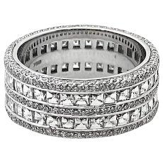 Bez Ambar White Gold DIamond Band Ring