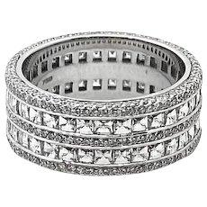Bez Ambar White Gold DIamond Band Ring