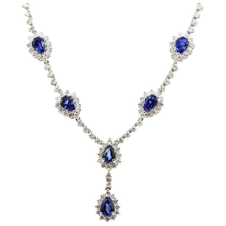 ff0ec6737 18K White Gold Sapphire And Diamond Necklace : Provident Jewelry | RubyLUX