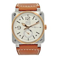 Bell & Ross BR03-90 Steel & Rose Gold Wristwatch