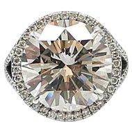 10.01 Carat EGL-US Cert Round Brilliant Diamond Platinum Engagement Ring