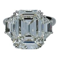 10.07 Carat GIA  Emerald Cut Diamond Platinum Engagement Ring