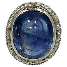 29.70 Carat Natural Burma Sapphire Ring