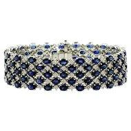 Sapphire Diamond Gold Bracelet