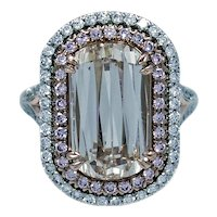 4.04 carat VVS2 Light Brown Diamond and Pink Diamond Ring