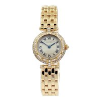18K Cartier Panthere Vendome Quartz Watch with Diamonds