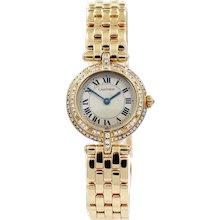 18K Cartier Panthere Vendome Quartz Watch with Diamonds