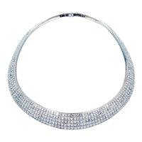 79.16 Carat Crisscut Diamond Necklace by Christopher Designs