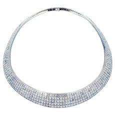 79.16 Carat Crisscut Diamond Necklace by Christopher Designs