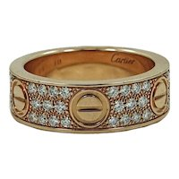 Estate 18K Rose Gold Cartier Love Band