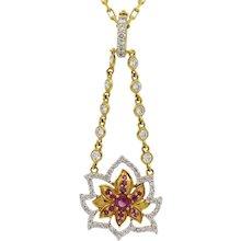 20K Buddha mama Lotus Necklace