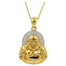 20K Buddha Mama Drop Tassel Necklace