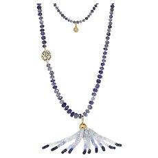 20K Buddha Mama Tassel Drop Necklace
