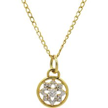 20K Buddha Mama Dharma Wheel Pendent Necklace