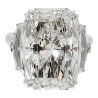 Platinum Engagement Ring with a 15.03 Carat Radiant Diamond