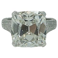 Platinum Elongated Radiant Diamond Engagement Ring
