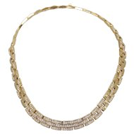 18K Cartier Maillon Panthere Three Row Necklace with Diamonds