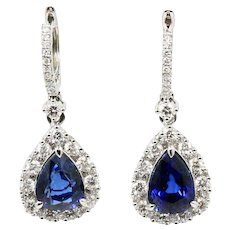 18K White Gold Gregg Ruth Drop Earrings