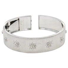 18K White Gold Buccellati Marci Cuff Bracelet