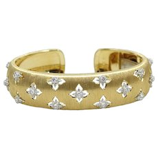 Buccellati Diamond Macri Cuff Bracelet