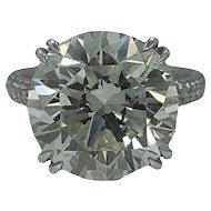 Platinum Round Cut Diamond Ring