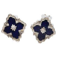 18K White Gold Buccellati Opera Earrings