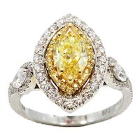 18K Marquise Modified Brilliant Diamond RIng