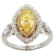 18K Marquise Modified Brilliant Diamond RIng