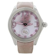 Corum 42 Bubble Pink Mother Of Pearl Model 295.100.20/0088 PN36 WristWatch