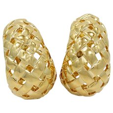 18K Tiffany & Co. Woven Basket Earrings
