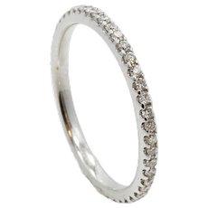 18K White Gold Diamond Eternity Band