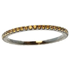 18K White Gold Yellow Sapphire Eternity Band