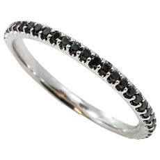 18K White Gold Black Diamond Eternity Band