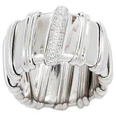 18K White Gold Nabucco Ring With Diamonds
