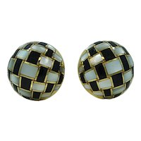 18K Yellow Gold Estate Tiffany & Co. Button Earrings