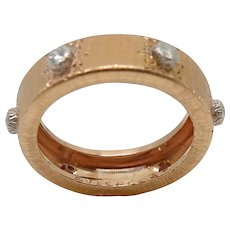 18K Rose Gold Buccellati Classica Band Ring