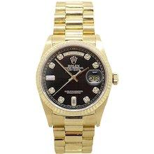 Rolex 18K Yellow Gold Day Date Model. 18038 President Watch
