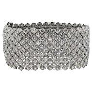 46.42 Carat Diamond White Gold Bracelet