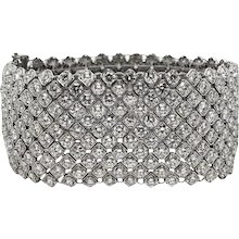 46.42 Carat Diamond White Gold Bracelet