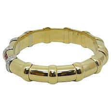 18K Yellow Gold Ruby and Diamond Bracelet