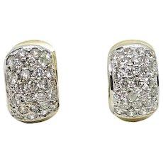 14K Yellow Gold Huggies Earrings