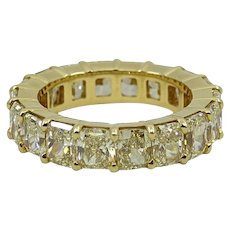 18K Yellow Eternity Band With Radiant Yellow Diamonds