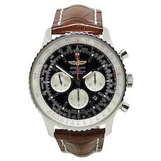 Breitling Navitimer AB0127 Stainless Steel And Leather Manual 46mm Mens Watch