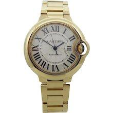 Cartier 18K Yellow Gold Ballon Bleu 33mm Automatic Wrist Watch