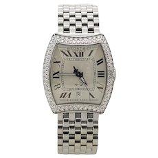 Bedat & Co. No. 3 Stainless Steel Double Diamond Bezel Model 314 Wrist Watch