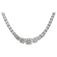 Platinum Round Diamond Riviera Necklace