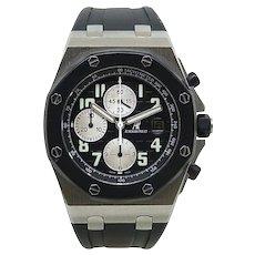 Audemars Piguet Stainless Steel Royal Oak Offshore Automatic Wristwatch