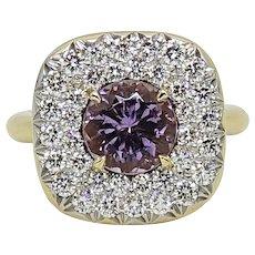 Pamela Huizenga 1.83 Carat Lilac Tourmaline Yellow Gold Ring
