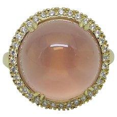 16.17 Carat Rose Quartz Pamela Huizenga Ring