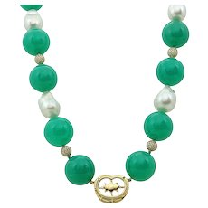 Pamela Huizenga South Sea Baroque Pearls and Fine Bead Necklace